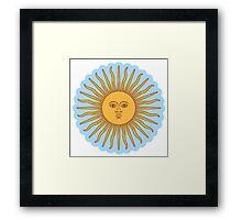 Cool Sun >Cute design< Framed Print