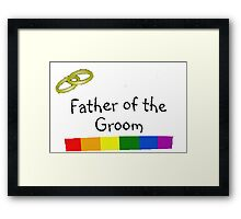 Father of Groom Framed Print