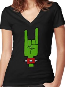 THRASH IT OUT Volume 1 Women's Fitted V-Neck T-Shirt