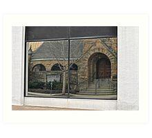 church reflections Art Print