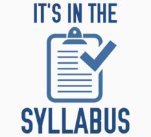 It's In The Syllabus by AmazingVision