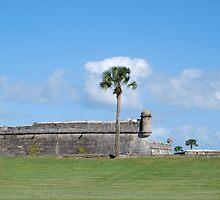 Southwest bastion, Castillo San Marcos by Ben Waggoner