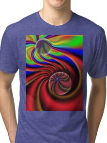 digital abstract composition Tri-blend T-Shirt