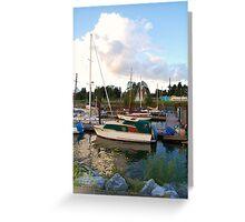Bright boats Greeting Card