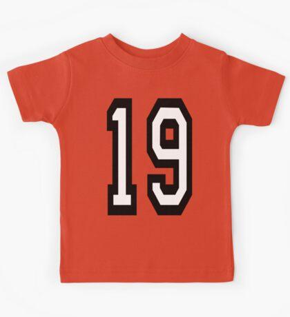 19, TEAM SPORTS, NUMBER 19, NINETEEN, NINETEENTH, Competition,  Kids Tee