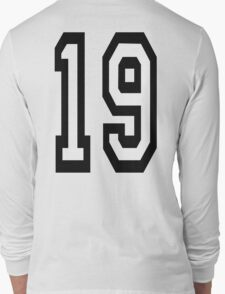 19, TEAM SPORTS, NUMBER 19, NINETEEN, NINETEENTH, Competition,  T-Shirt