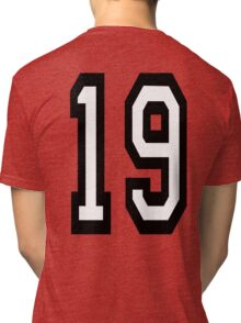 19, TEAM SPORTS, NUMBER 19, NINETEEN, NINETEENTH, Competition,  Tri-blend T-Shirt