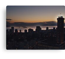 Vancouver Evening Canvas Print