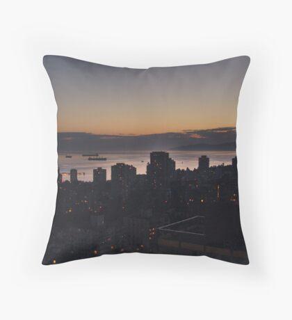 Vancouver Evening Throw Pillow