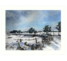 Easter snow in Skipton Art Print