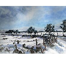 Easter snow in Skipton Photographic Print