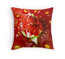 Strawberry mood Throw Pillow