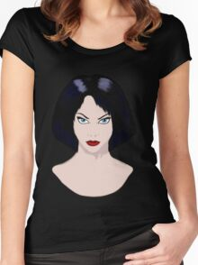 Girl with Black Hair Women's Fitted Scoop T-Shirt