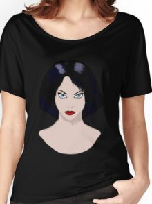 Girl with Black Hair Women's Relaxed Fit T-Shirt