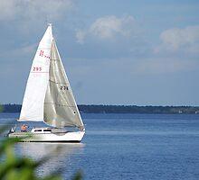 Sailboat on Lake Monroe by Ben Waggoner