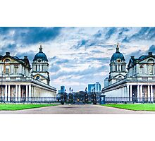 Greenwich Maritime Twins Photographic Print