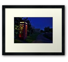 Cotswolds phone box at night Framed Print