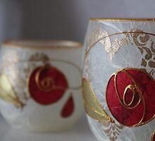 Rose Candles by Kareena  Kapitzke
