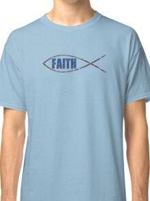 Christian Fish Multi-Colored 'FAITH' Classic T-Shirt