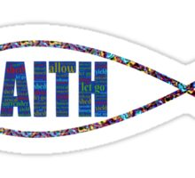 Christian Fish Multi-Colored 'FAITH' Sticker