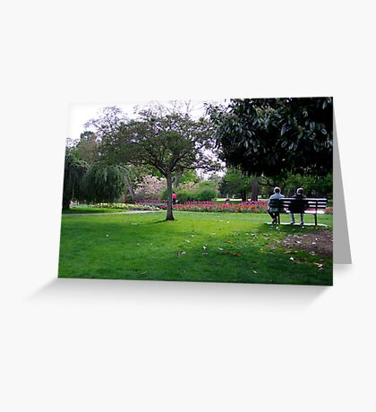 Afternoon In The Park Greeting Card