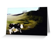 New born calf on Penshaw hill Greeting Card