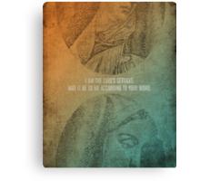 Word: Luke (The Lord's Servant) Canvas Print