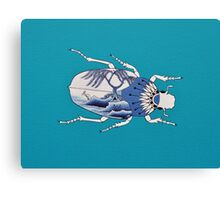 Segment from ' Blue Willow Beetles' Canvas Print