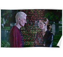 Spike's speech to Buffy Poster