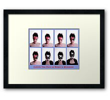 Collette Von Tora Morphs From Bowie To Simmons Framed Print