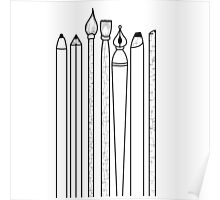 pencils -white- Poster