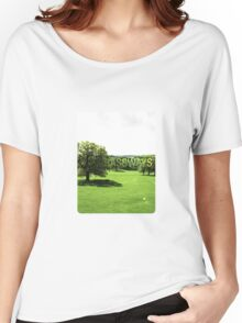 Grassways - An interesting stroll past one man; one bench Women's Relaxed Fit T-Shirt
