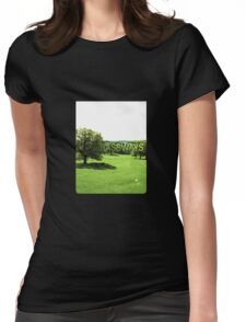 Grassways - An interesting stroll past one man; one bench Womens Fitted T-Shirt