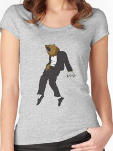 Michael Jackson Bear Women's Fitted Scoop T-Shirt