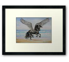 Friesian Pegasus Framed Print