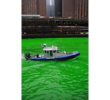 Green police Photographic Print