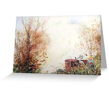 Retired tractor at rest Greeting Card