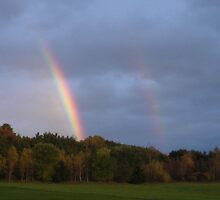 Double rainbo in Vermont by Laura Davis