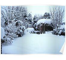 Deep Snow Covered Garden Poster