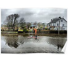 Road Flooded.-Skippool Poster