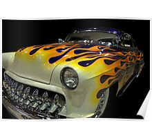 1954 Chevrolet Custom 210 with Flames Poster