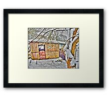 The Old Stable - Winter Countryside - Shropshire UK Framed Print