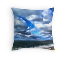 Sea and Cloudscape Throw Pillow
