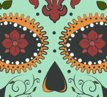 skull green Sticker