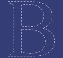 Stitched Letter B by SmartTees