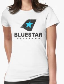 BlueStar Airlines (worn look) Womens Fitted T-Shirt