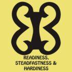 T-Shirt Adinkra Symbol: Readiness by Keith Richardson