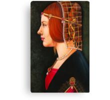 Leonardo's Beatrice Canvas Print