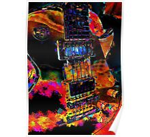 The Player - Psychedelic Guitar Poster