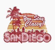 You Stay Classy! San Diego (Worn look) Kids Tee